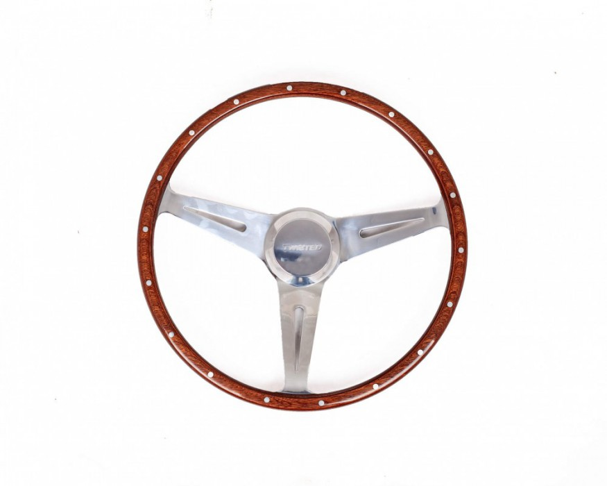 Wooden steering wheel for Defender